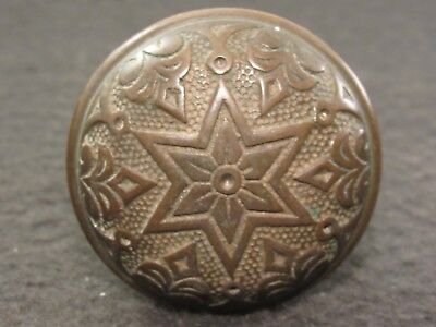 Rare Antique 1800's Cast Iron STAR Door Knob Refurbished