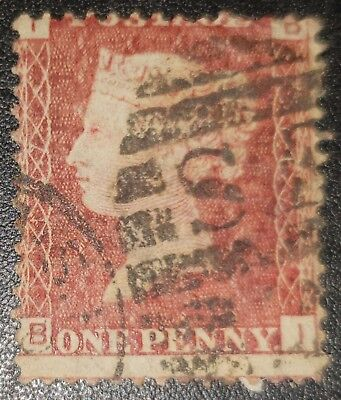 GB QV SG43 1d.red Plate167 B-I used stamp (No865)*