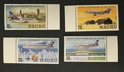 Naura  Set Of 4 Airlines MNHOG XF Great Coll Y3/73