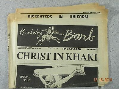 Berkeley Barb # 208, 1969 Underground Christ in Khaki Army Dissenters in Uniform