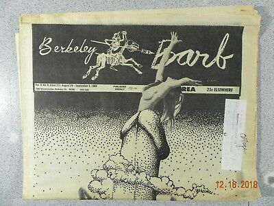 Berkeley Barb # 211, 1969 Underground Newspaper San Francisco Pornography