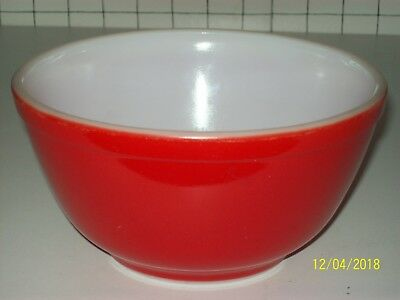 Vintage RED Pyrex MIXING BOWL  #402 1/2 Quart -  Primary Color Nesting Set