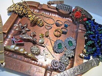 Vintage Estate Jewelry Lot of Rhinestone,Gold Filled,Victorian,Fashion~Dealers!