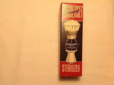 Genuine-Rubberset Sterilized Made In Usa Shaving Brush-Mint In Box-Never Used