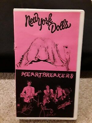 New York Dolls/ Heartbreakers 1973-1979 Live Concert VHS sold as usedblank