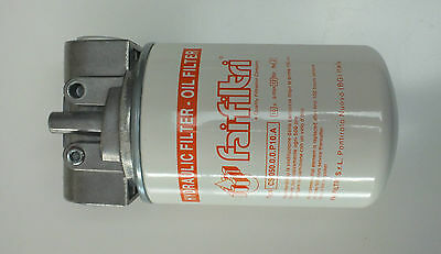 """Hydraulic Oil Spin on 25 micron Return Filter Assembly 3/4"""" BSP Ports 100Lt/Min"""