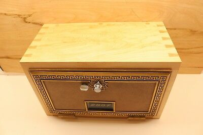 Vintage Post Office Box Door  Gun Lock Box Solid Maple Wood Dovetails