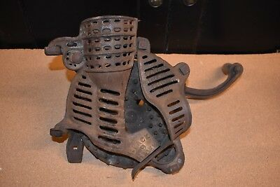 Antique Black Hawk Cast Iron Number 9 Hand Crank Corn Sheller