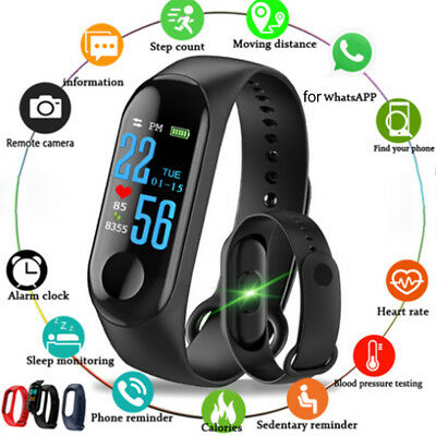 Smart Band Watch Bracelet Wristband Fitness Tracker Blood Pressure HeartRate New
