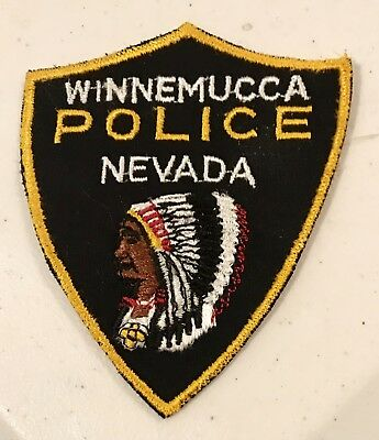 Winnemucca Nevada Police Patch.  NOS
