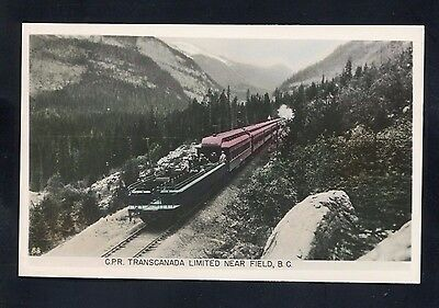 RPPC CPR Transcanada train railroad near Field B.C. BC CANADA photo RP postcard