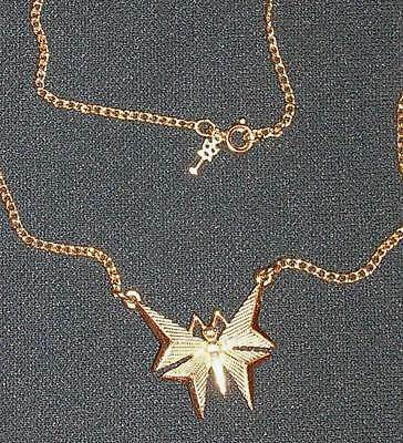 A Vintage Trifari Goldtone Necklace In The Form Of A Butterfly With Jewelry Box