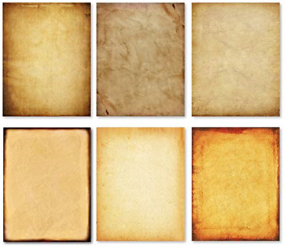 Stationery Paper - Old Fashion Aged Classic Antique & Vintage Assorted Design –