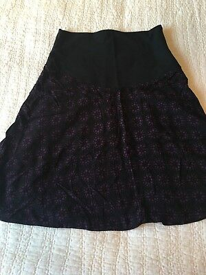 EUC Thyme Maternity M Medium Skirt Lined Flare Comfy