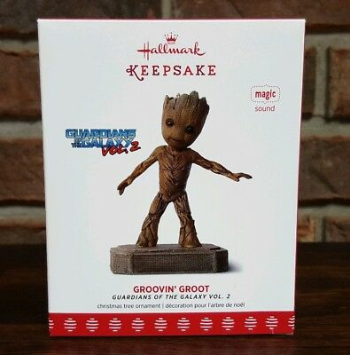 Hallmark Ornament 2017 Groovin' Groot Guardians of the Galaxy Volume 2 MUSIC New
