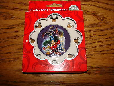 DISNEY World MICKEY SORCERER Christmas Holiday Ornament FOUR PARKS ONE WORLD NEW