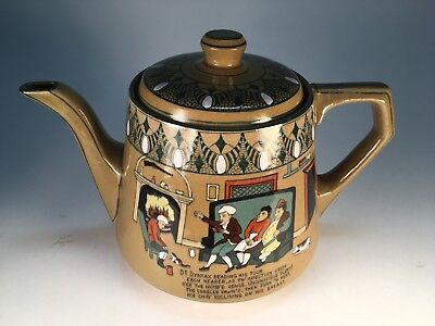 Buffalo Pottery Deldare Dr. Syntax Extremely Rare Teapot Mint Awesome!!  Pottery
