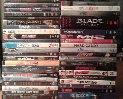 Lot of 45 Used ASSORTED DVD Movies - 45 Bulk DVDs - Used DVDs Lot - Wholesale