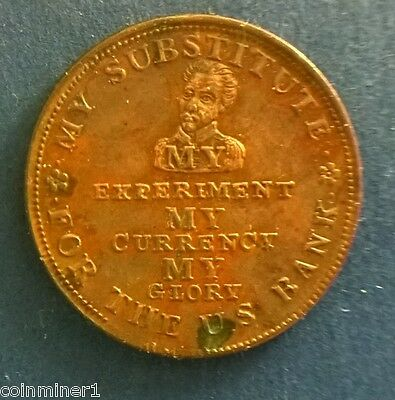 Hard Times Token: HT9 - Perish Credit, Perish Commerce, Down with the Bank; 1834