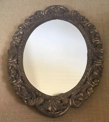 Vintage Large Shabby Chic Oval Mirror