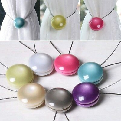 Curtain Hooks Cat Eye Resin Fixed Magnetic Curtain Tieback Buckles Home Decor