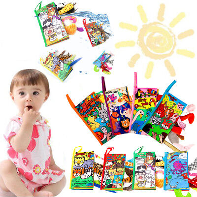 New Arrive 3D Animal Tails Cloth Book Baby Toy Development Books For Girl Boy