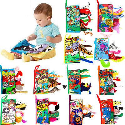 Intelligence Development Cloth Bed 3D Animal Book Educational Toy for Kids Baby