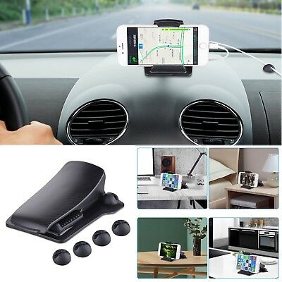 Black Car Dashboard Mount Holder Desk Stand Bracket For Mobile Phone / PC GPS
