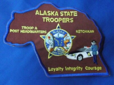 Alaska State Troopers Police Sheriff Trooper Patch Ketchikan