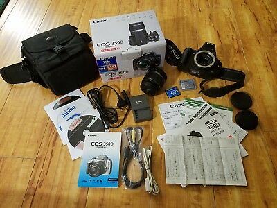 Canon EOS 350D EF-S 18-55 Kit with Case