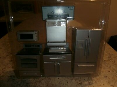 """1"""" scale modern """"stainless steel"""" complete kitchen"""