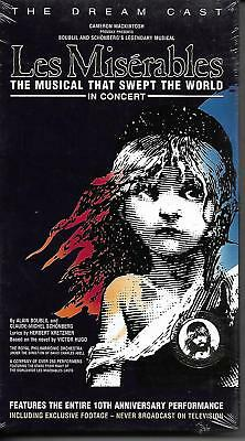 Les Miserables ~ 10th Anniversary Edition (VHS 1996) ~ New Sealed!