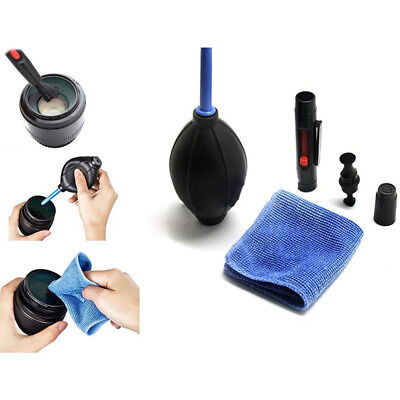 Camera Lens Cleaner Kit LCD Cleaning Spray Microfiber Cloth Air Blower Brush Set