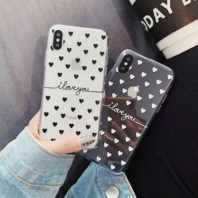 Fashion Heart ILY Lovers Soft UNBreak Phone Case Cover For Apple iPhone 6-XS Max