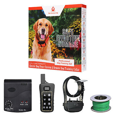 1 Dog electric fence system remote training collar invisible waterproof wireless