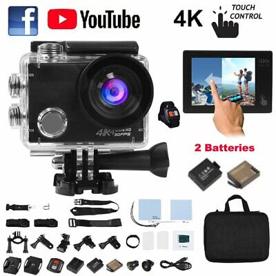 Ultra 4K 20MP WIFI Action Camera 1080P Sport 2.0'' LCD Touchscreen Camcorder 40M