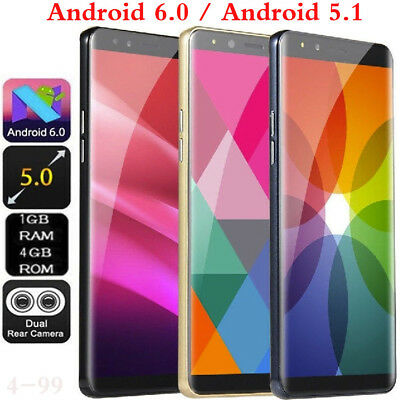 "5.0"" Cheap 3G Big Screen Unlocked Smartphone Dual SIM Android 6.0 Mobile Phone."