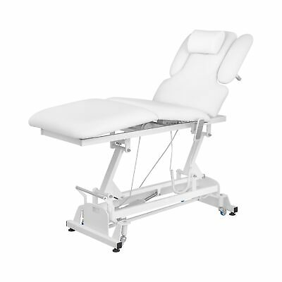 Electric Massage Table Bed Physical Therapy Spa 3 Motors Remote Control White