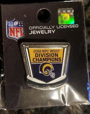 Los Angeles Rams NFC 2018 West Champs Gameday Pin