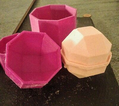 "UK 3D Printed Bath Bomb Mold - 2.5"" Hex Mould"