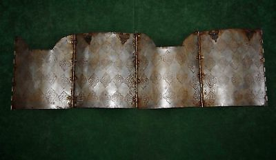 Vintage Persian Mughal Islamic Quranic Calligraphy Engraved Char-aina Armour Set