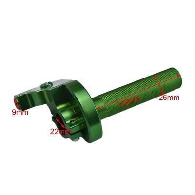 CNC Green Throttle Grip 1/4  Handlebar Turn Twist Housing Pit Trail Dirt Bike