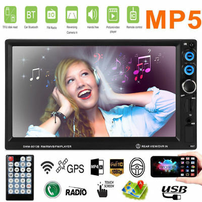 7Zoll 2DIN Autoradio MP5 Player GPS AUX-IN Navigation NAVI BLUETOOTH TOUCHSCREEN
