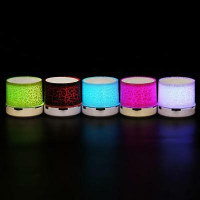 Luminous LED Lights Rechargeable Wireless Bluetooth Mini Speaker Portable party~