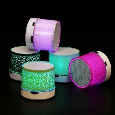 Luminous LED Lights Rechargeable Wireless Bluetooth Mini Speaker Portable party*