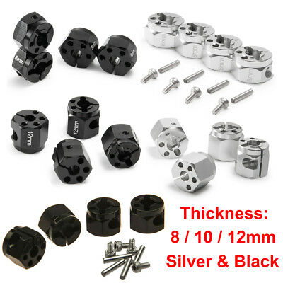 Alloy 8/10/12mm Thickness 12mm Hex Wheel Hub Widen Adapter For SCX10 D90 1/10 RC