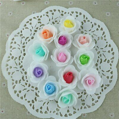10Pcs Fake Artificial Rose Flower Heads Blossom Party Home Room Decor XW
