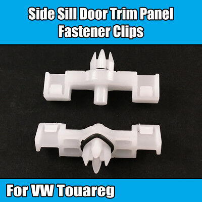 10x Clips For VW Touareg Side Sill Door Moulding Trim Fastener White 7L0853547A