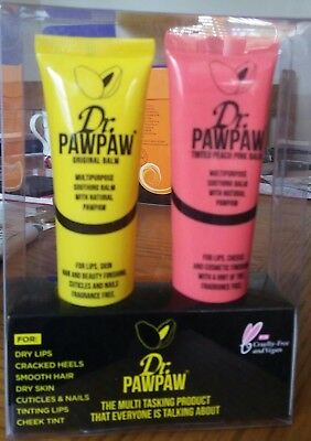Dr Paw Paw Tinted Peach 25 ml and Original Balm 25ml Twin Pack