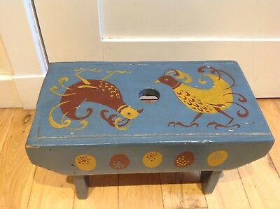 Hand Painted Barge Gypsy Traveller/Milking Stool